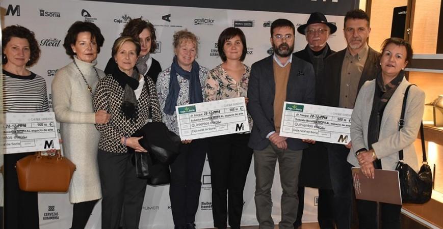 La Subasta Solidaria organizada por Espacio de Arte Monreal recauda  11.301 euros